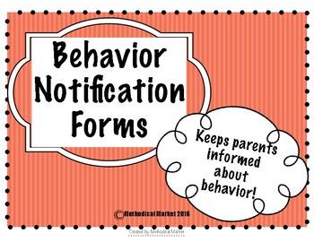 Behavior Note