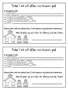 Behavior Note- Classroom Management Parent Communication Tool with BIST version