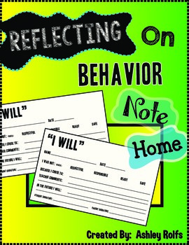 Behavior Note Home