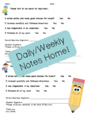 Note Home for Parent Communication