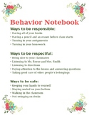 Behavior Notebook