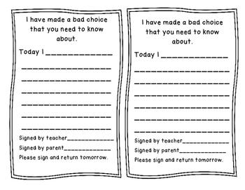 Behavior Notes