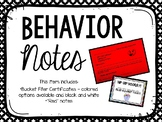 Behavior Notes