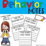 Behavior Notes & Log