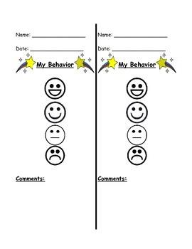 Behavior Notes To Send Home (English/Spanish)