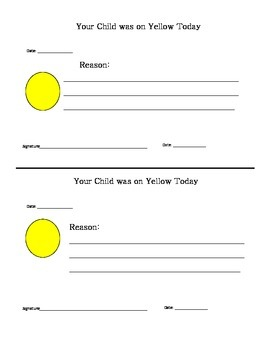 Behavior Notes to Parents