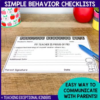Behavior Notes to Send Home (Editable!)