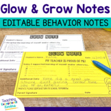 Behavior Notes to Send Home to Parents with Editable Templates