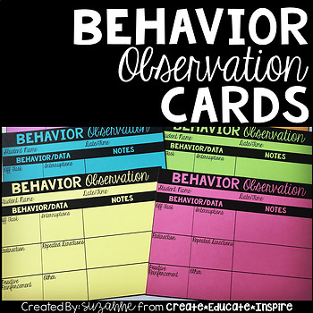 Behavior Observation Cards