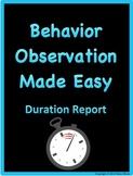 Behavior Observation Made Easy: Duration Data Collection Form