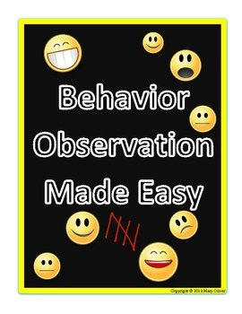 Behavior Observation Made Easy: Frequency Data... by 2 Teachin ...