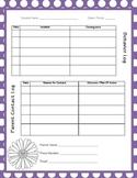 Behavior & Parent Contact Log ~ Polka Dot Theme