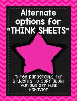Behavior Passages [FREEBIE] Alternative to Think Sheets
