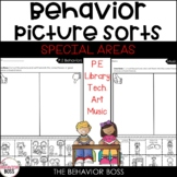 Behavior Picture Sorts | Special Areas | Back to School