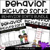 Behavior Picture Sorts | THE BUNDLE | Back to School