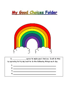 Behavior Plan-Good Choices Rainbow Towers