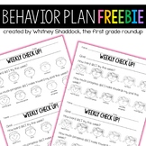 Behavior Plan Self Check FREEBIE