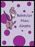 Behavior Plan Sheets