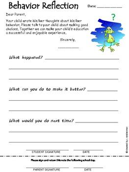 Behavior Plan Sheets