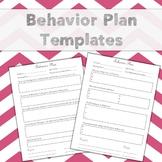 Behavior Plan Templates