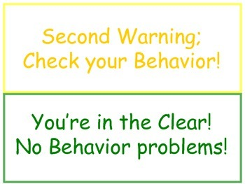 Behavior Plan Visuals for Chart