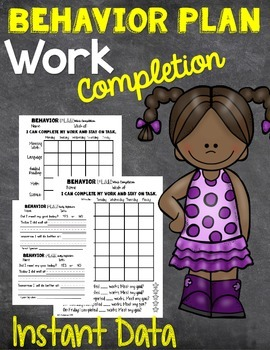 Behavior Plan Work Completion