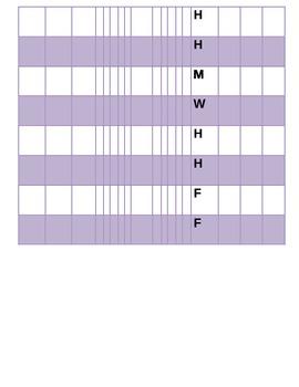 Behavior Plan X Chart Checklist Third Grade Homework Accelerated Reader