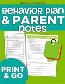 Behavior Plan and Parent Notes