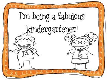 Behavior Plan for Kindergarten