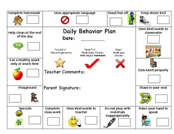 Behavior Plan for Rule Breakers