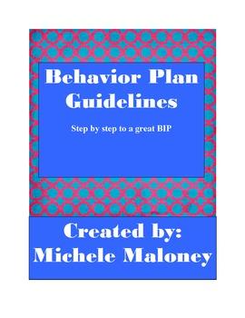 Behavior Plan - guidelines