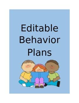 Behavior Plans - Editable