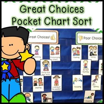Behavior Pocket Chart Sort - Classoom Rules Review