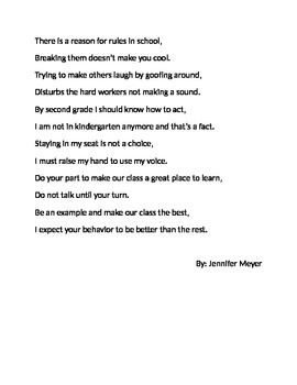 Behavior Poem