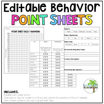 Editable Behavior Point Sheets