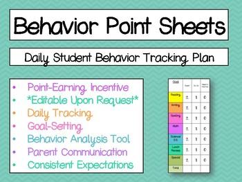 Behavior Point Sheet FREEBIE