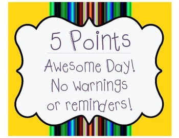 Classroom Management Point System