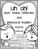 Behavior - Poor Choice Parent Notifications