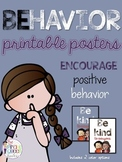 Behavior Posters: Positive Behavior Quote Posters for Classroom Decoration