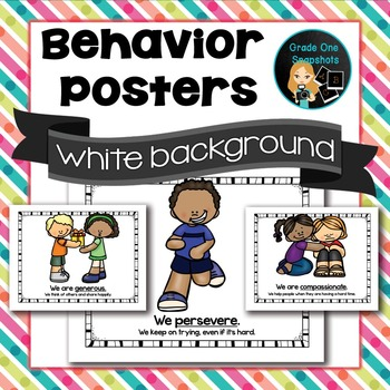 Behavior Posters - White Background