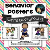 Behavior Posters - White Background