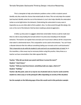 Behavior Problem Solving Template
