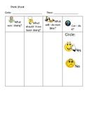 Behavior Processing Think Sheets