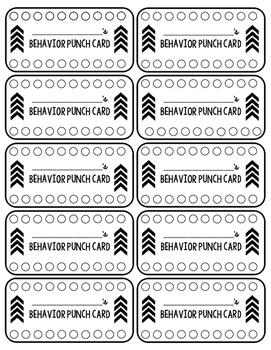 Behavior Punch Card