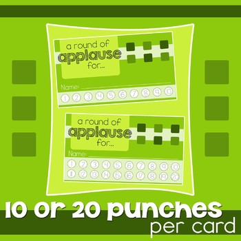 Behavior Punch Card Complete Bundle