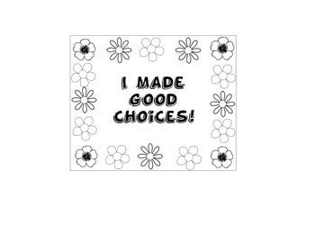 Behavior Punch Card (Flowers)