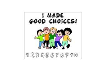 Behavior Punch Card (I Made Good Choices)