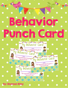 Behavior Punch Card/ Incentive Chart