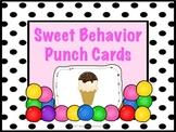 Behavior Punch Cards (Sweet Behavior Freebie)