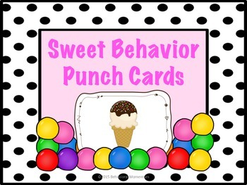 Behavior Punch Cards (Sweet Behavior Freebie)
